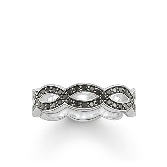 ring eternity black love knot from the Glam & Soul collection in the THOMAS SABO online store