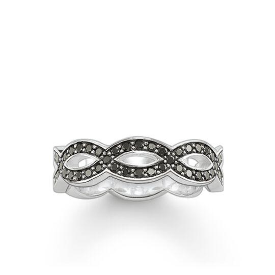 bague eternity Love Knot noir de la collection Glam & Soul dans la boutique en ligne de THOMAS SABO