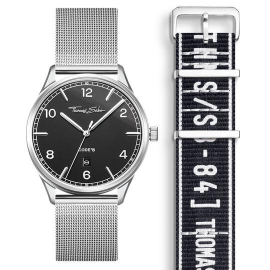 SET CODE TS montre noire et bracelet noir urbain de la collection  dans la boutique en ligne de THOMAS SABO