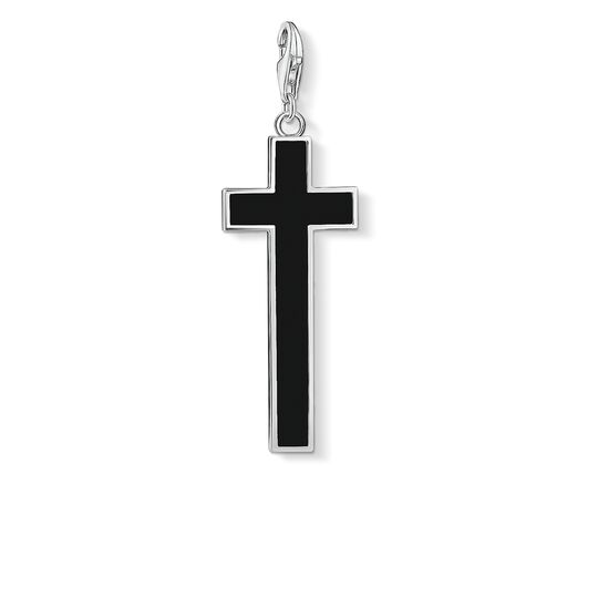 Charm pendant black cross from the Charm Club collection in the THOMAS SABO online store