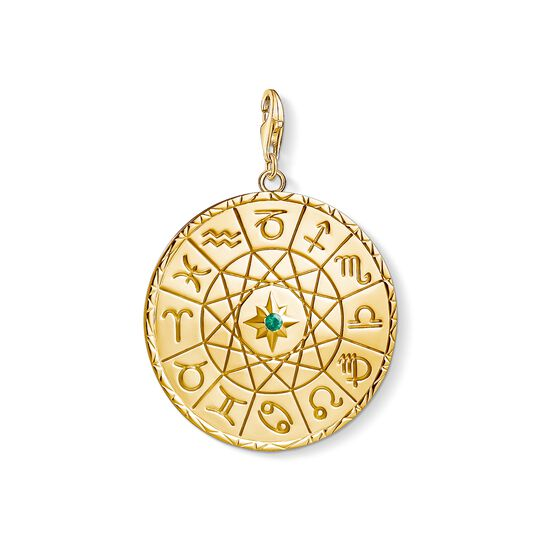 Charm pendant Star sign coin gold from the Charm Club collection in the THOMAS SABO online store