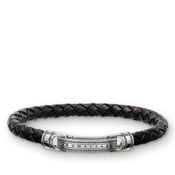 leather bracelet black from the Rebel at heart collection in the THOMAS SABO online store