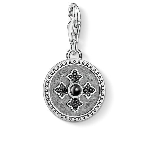 "Charm pendant ""disc Royalty cross"" from the  collection in the THOMAS SABO online store"