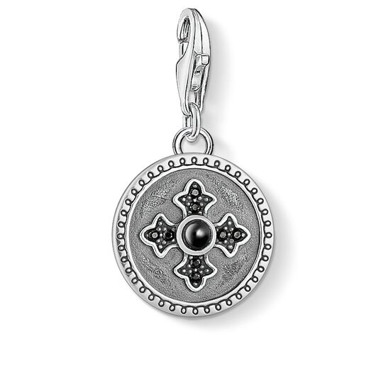 Charm pendant disc Royalty cross from the  collection in the THOMAS SABO online store