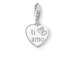 Charm pendant TI AMO heart from the Charm Club Collection collection in the THOMAS SABO online store