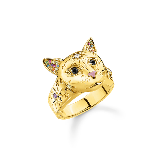 ring cat gold from the Glam & Soul collection in the THOMAS SABO online store