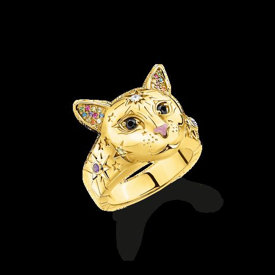 Ring Katze gold aus der Glam & Soul Kollektion im Online Shop von THOMAS SABO