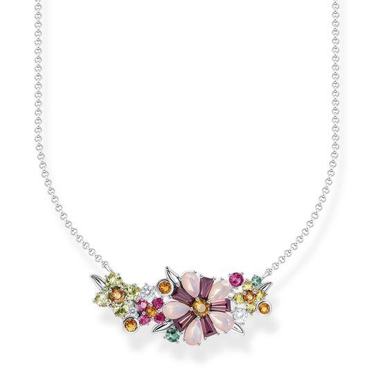 Halsband blommor stenar i färg silver ur kollektionen  i THOMAS SABO:s onlineshop