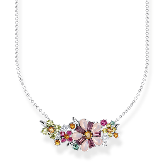 Necklace flowers colourful stones silver from the Glam & Soul collection in the THOMAS SABO online store