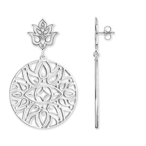 "orecchini pendenti ""Ornamenti fiore di loto"" from the Glam & Soul collection in the THOMAS SABO online store"