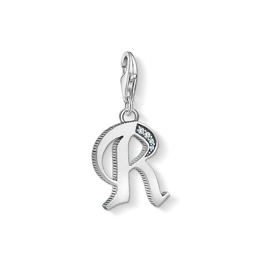 Charm pendant letter R silver from the Charm Club collection in the THOMAS SABO online store