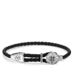 """leather strap """"compass"""" from the Rebel at heart collection in the THOMAS SABO online store"""