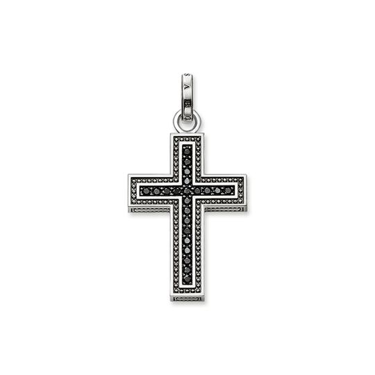 pendant black cross pavé from the Rebel at heart collection in the THOMAS SABO online store