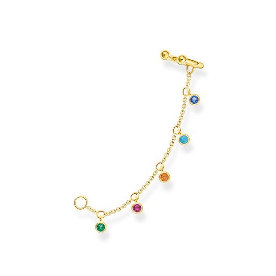 Ear cuff colourful stones, gold from the Charming Collection collection in the THOMAS SABO online store