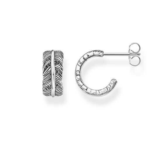 hoop earrings feather from the Rebel at heart collection in the THOMAS SABO online store