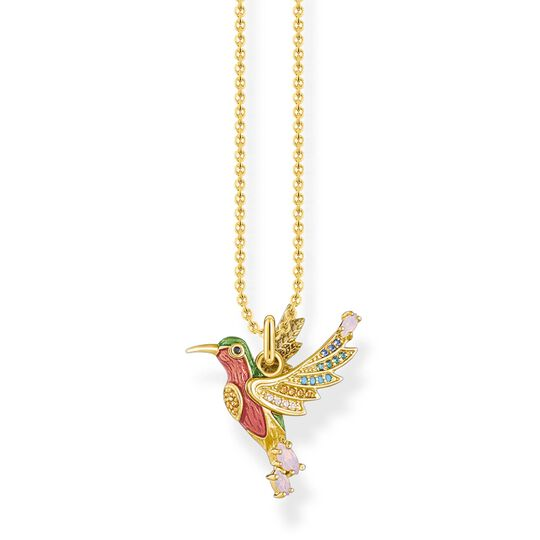 necklace colourful hummingbird gold from the Glam & Soul collection in the THOMAS SABO online store
