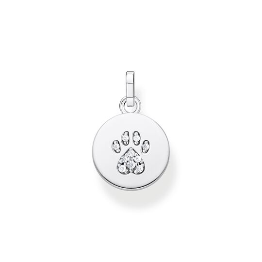 pendant disc paw cat silver from the  collection in the THOMAS SABO online store