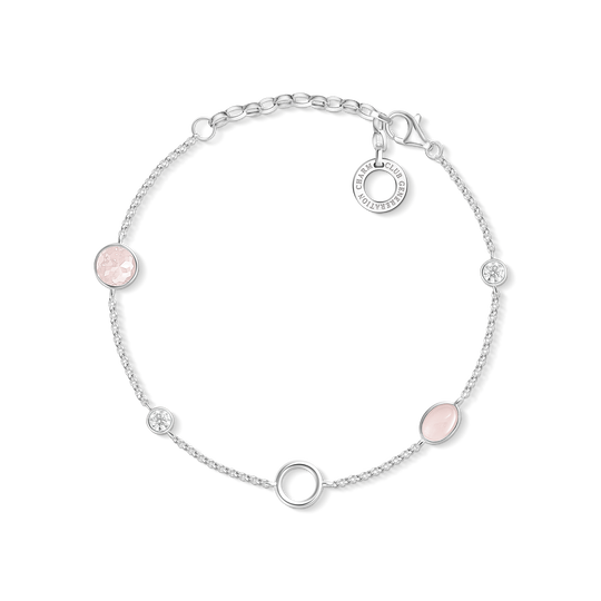 Charm bracelet pink stones from the Charm Club collection in the THOMAS SABO online store