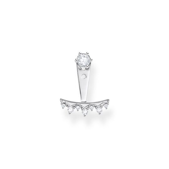 Single ear stud white stones, silver from the Charming Collection collection in the THOMAS SABO online store