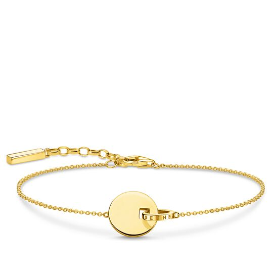 bracelet Together coin with gold-coloured ring from the Glam & Soul collection in the THOMAS SABO online store