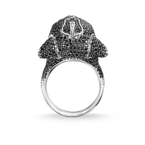 "ring ""Black Cat"" from the Rebel at heart collection in the THOMAS SABO online store"