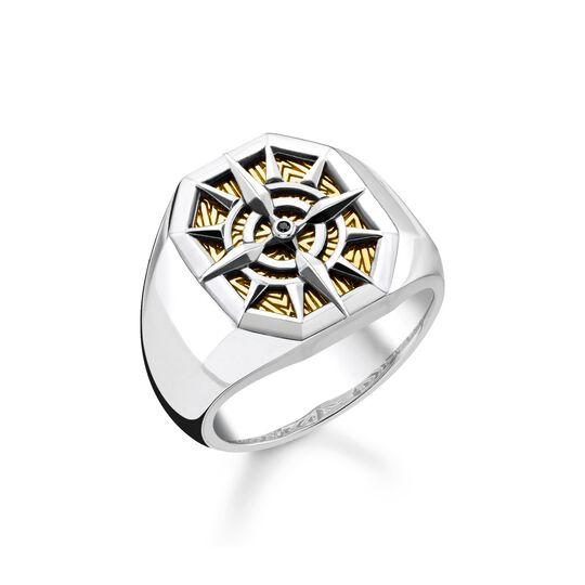 ring compass gold from the  collection in the THOMAS SABO online store