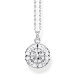 "necklace ""compass faith, love, hope"" from the Glam & Soul collection in the THOMAS SABO online store"