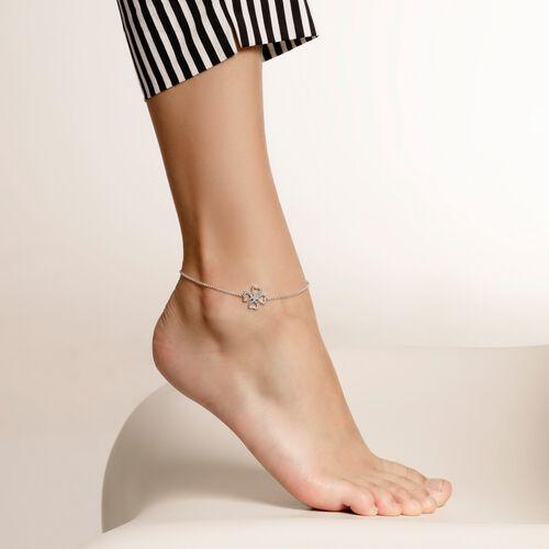 """pulsera para tobillo """"trébol"""" de la colección Glam & Soul en la tienda online de THOMAS SABO"""