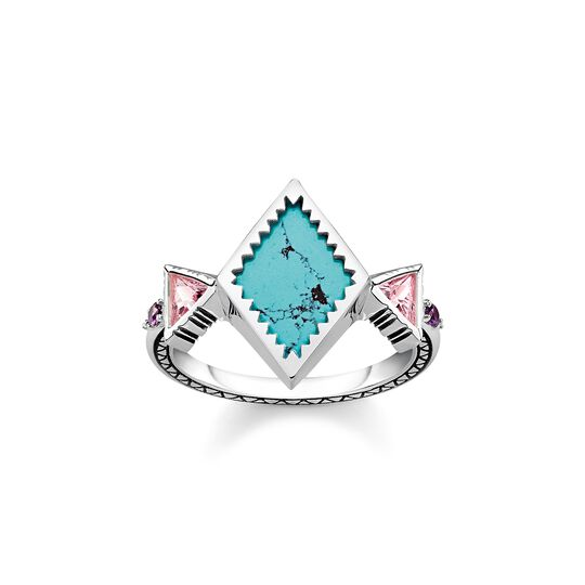 Ring zig zag turquoise from the  collection in the THOMAS SABO online store