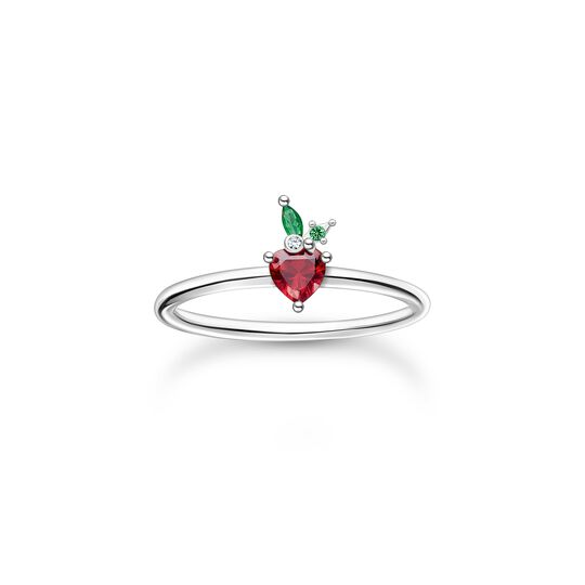 Ring strawberry silver from the Charming Collection collection in the THOMAS SABO online store