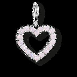 """pendentif Charm """"Cœur avec pierres roses"""" de la collection  dans la boutique en ligne de THOMAS SABO"""