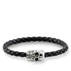 "leather strap ""skull"" from the Rebel at heart collection in the THOMAS SABO online store"