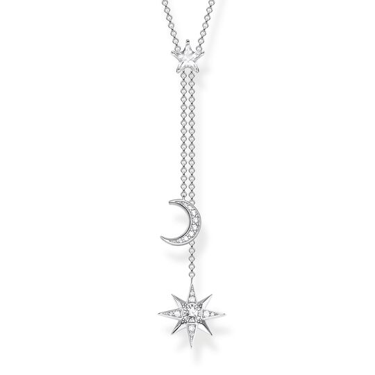 necklace Star & Moon silver from the  collection in the THOMAS SABO online store
