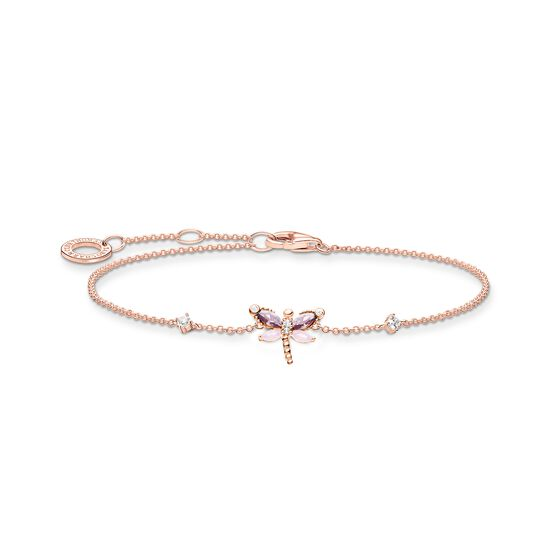 Bracelet dragonfly with stones rose gold from the Charming Collection collection in the THOMAS SABO online store