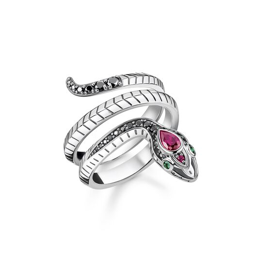 Ring snake black stones from the  collection in the THOMAS SABO online store