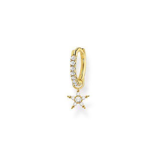 Créoleunique avec étoile or de la collection Charming Collection dans la boutique en ligne de THOMAS SABO