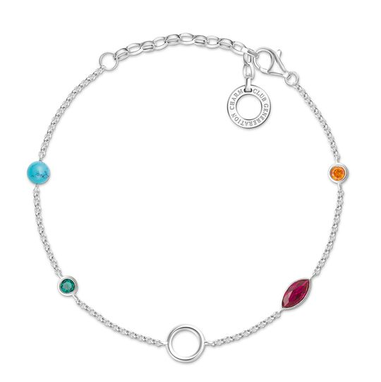 Charm bracelet coloured stones from the  collection in the THOMAS SABO online store