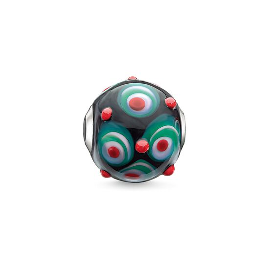 "Bead ""Red, Black, Hot Pink, Green"" from the Karma Beads collection in the THOMAS SABO online store"