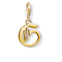 Charm pendant letter G gold from the Charm Club Collection collection in the THOMAS SABO online store
