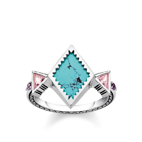 ring zig zag turquoise from the Glam & Soul collection in the THOMAS SABO online store