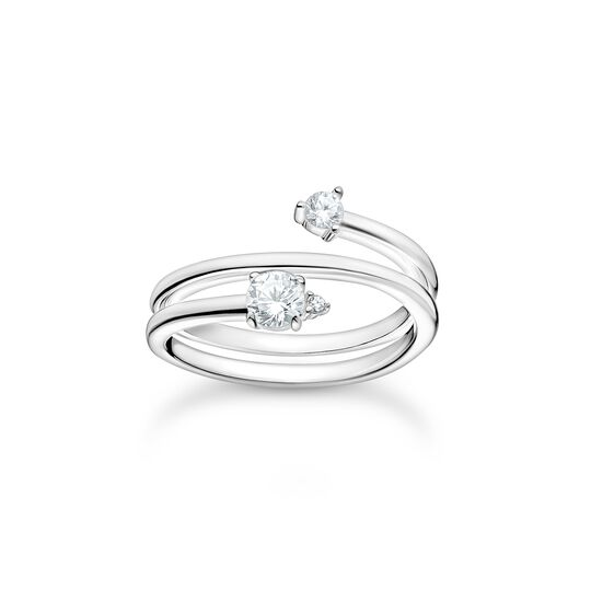 Ring arrow white stones, silver from the Charming Collection collection in the THOMAS SABO online store