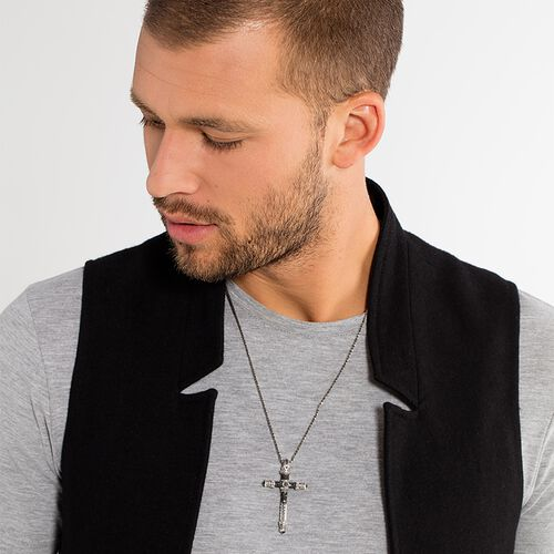 """pendant """"cross"""" from the Rebel at heart collection in the THOMAS SABO online store"""