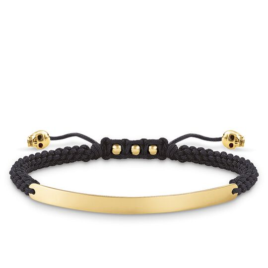 """bracciale """"teschio nero"""" from the Love Bridge collection in the THOMAS SABO online store"""