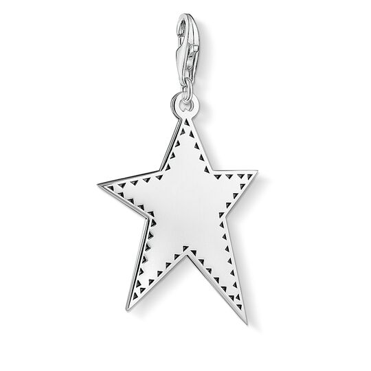 Charm pendant Silver star from the  collection in the THOMAS SABO online store