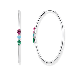 "hoop earrings ""Royalty Colourful Stones"" from the Glam & Soul collection in the THOMAS SABO online store"