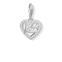 "Charm pendant ""heart BEST MUM"" from the  collection in the THOMAS SABO online store"