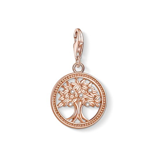 Charm pendant tree of life rose gold from the Charm Club collection in the THOMAS SABO online store