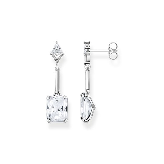Earring white stone silver from the  collection in the THOMAS SABO online store
