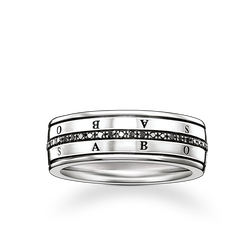 "eternity ring ""black diamond"" from the Rebel at heart collection in the THOMAS SABO online store"