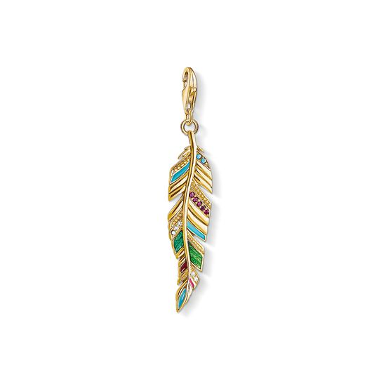 Charm pendant Ethnic Feather from the Charm Club collection in the THOMAS SABO online store